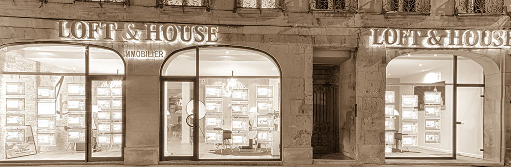 Devanture agence Loft&House